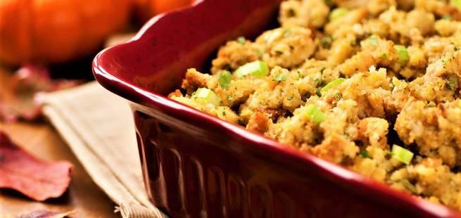 Cornbread dressing - maisbrød-stuffing