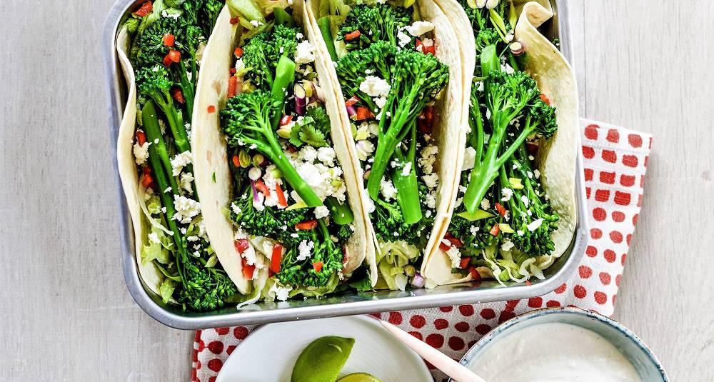 By på en morsom og smaksrik vegetarvri på tacoen