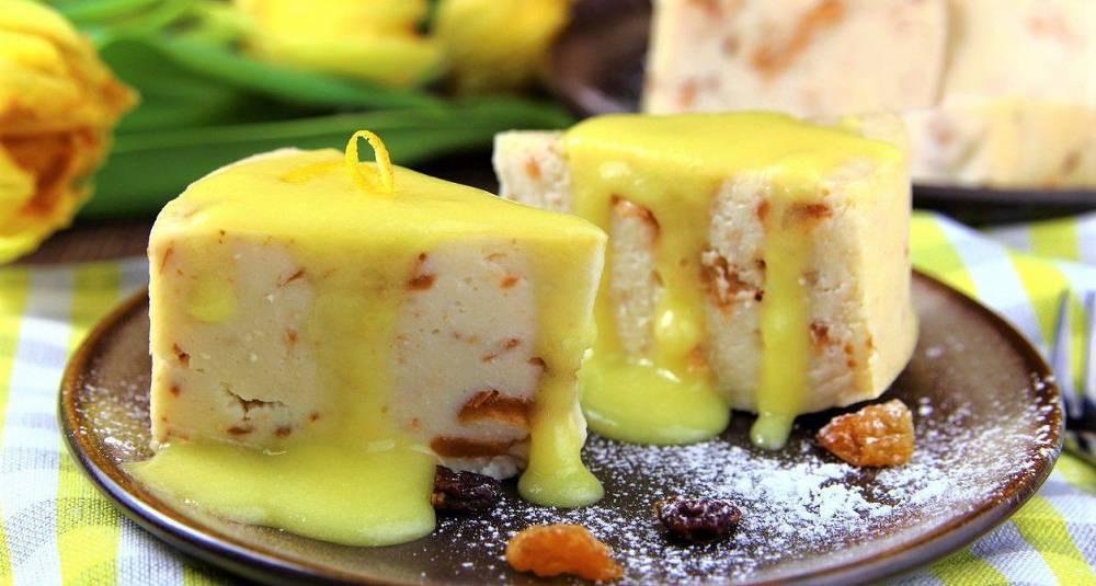 Potetterte med sitronsaus
