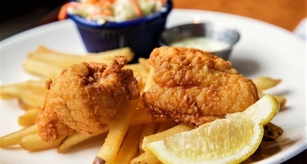 Fish and chips av rødspette
