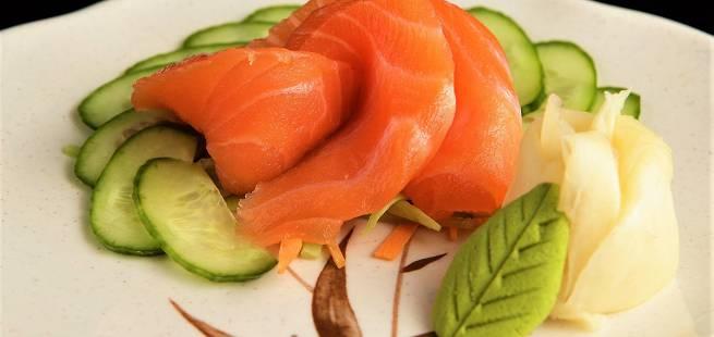 Sashimi av ørret