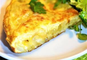 Omelett med potetpure