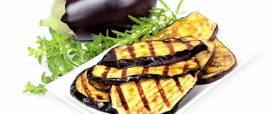 Grillet aubergine bare må prøves