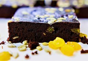 Sjokoladekake med solsikkekjerner