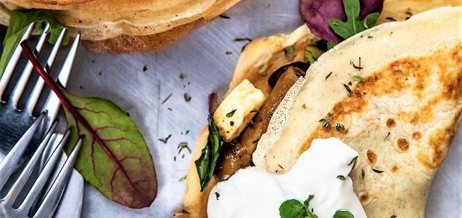 Pannekaker med grønnsaker
