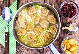 Suppe med kjøttboller og pasta som i Italia - Pallottoline e Pasta in Brodo