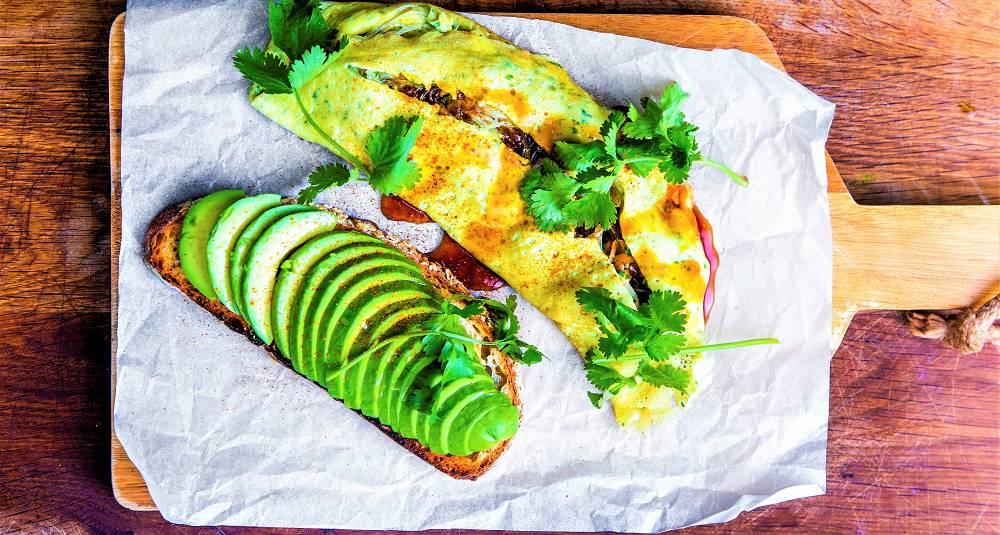 Fylt omelett på japansk vis