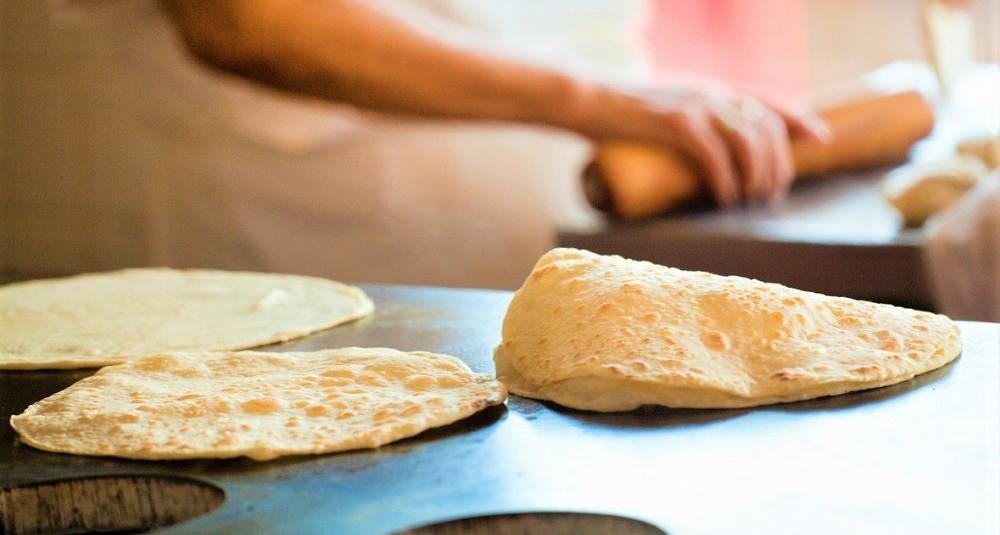 Hjemmelaget tortillas med hvetemel