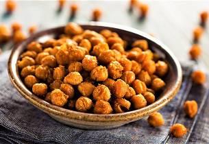 Ristede kikerter snacks