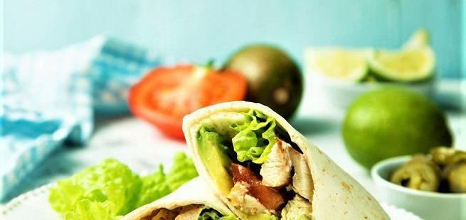 Kylling-wrap