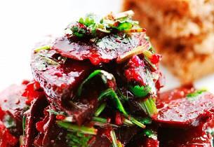 Rødbetesalat med spisskummen og koriander