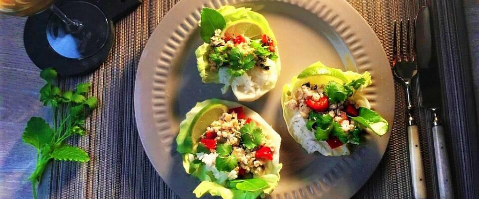 I dag får du middagen servert i et kålblad på ekte thaivis