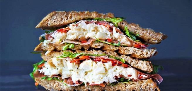 Klippfisk-sandwich
