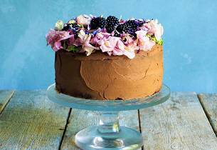 Sjokoladekake med søtpotetglasur