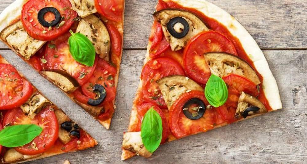 Grønnsakpizza vegetar