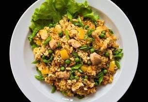 Kylling i stekt ris