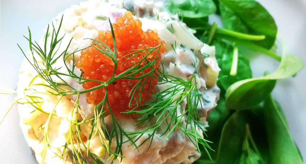 Røkt makrell med steinbitrogn