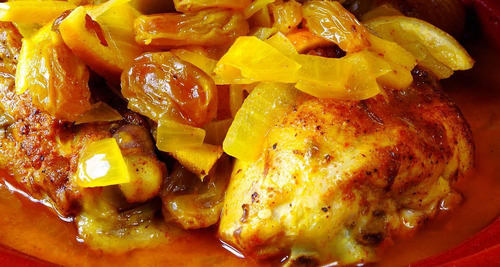 Kyllinggryte med tørket frukt og konjakk