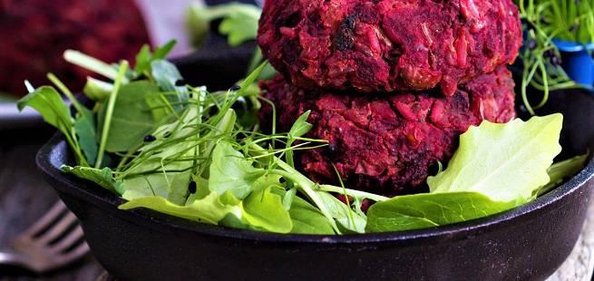 Miniburgere med rødbeter