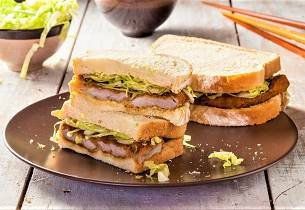Katsu sando - svinesnitsel-sandwich med tonkatsusaus