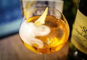 Champagnecocktail med whisky