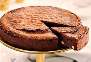 Klissete hasselnøttkake - mud cake