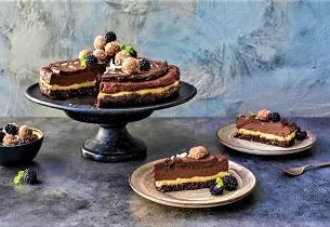Raw sjokoladekake med vanilje