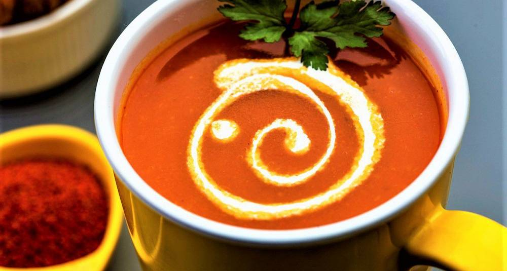 Tomatsuppe som i India