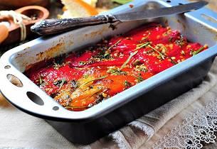 Capsicum chili-tian med geitost og chorizo