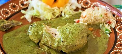 By på en kyllinggryte med mild smak av Mexico