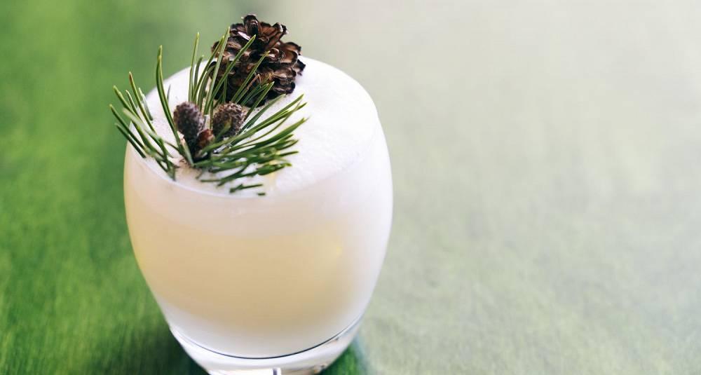 Lag en drink som smaker himmelsk av vårlig skog