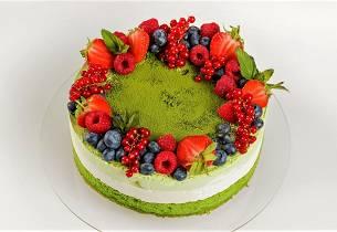 Grønn te-kake