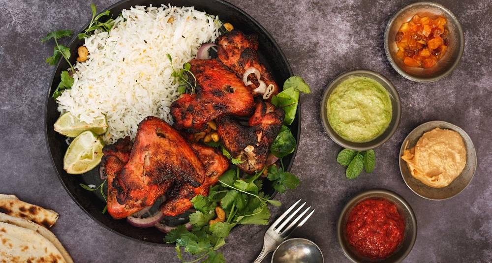 Kylling Tandoori på grillen