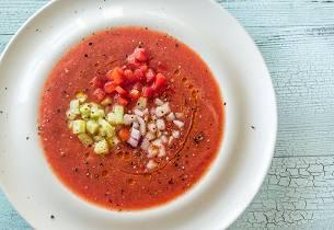 Sommerlig gazpacho
