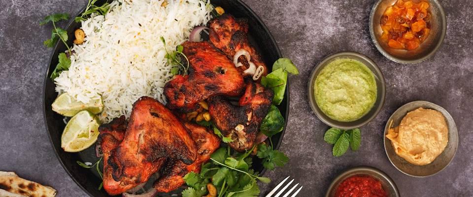 Indisk krydret kylling lager du enkelt på grillen