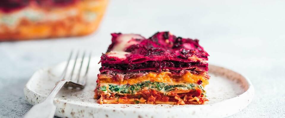 Lasagne i regnbuens farger er lekkert, næringsrikt og utrolig godt