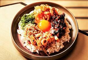 Bibimbap - koreansk pytt-i-panne
