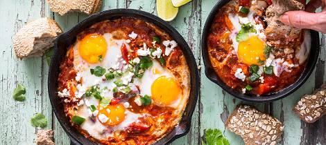 Denne meksikanske vegetarretten kan spises til både frokost, lunsj og middag
