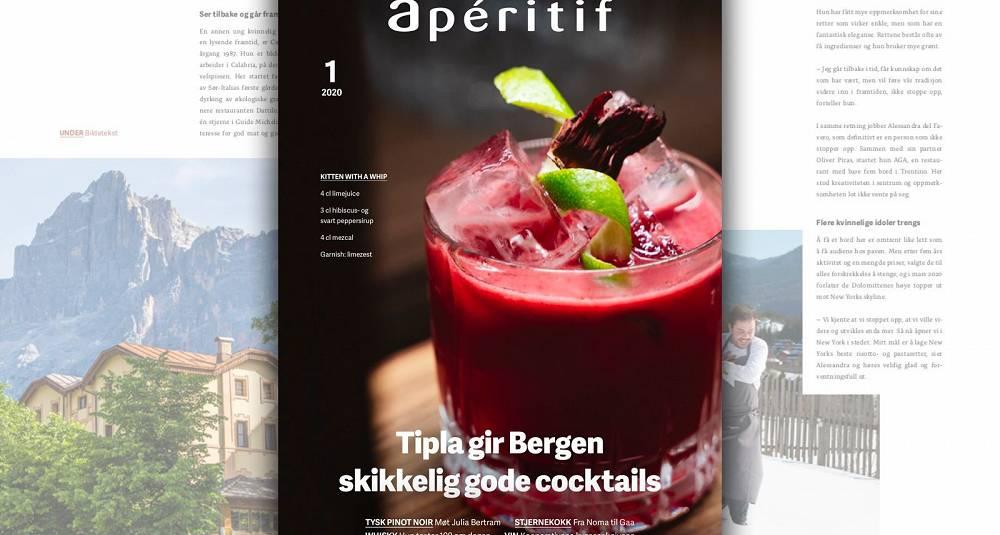 Årets første utgave av Apéritif magasin: Fordyp deg i tysk pinot noir, heftig whisky, lekre cocktails og møt verdens første kvinnelige indiske Michelin-kokk