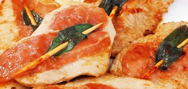 Saltimbocca av svin