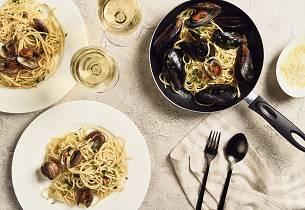 Spaghetti med skjell