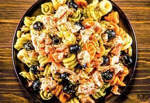 Laks og pasta Siciliana