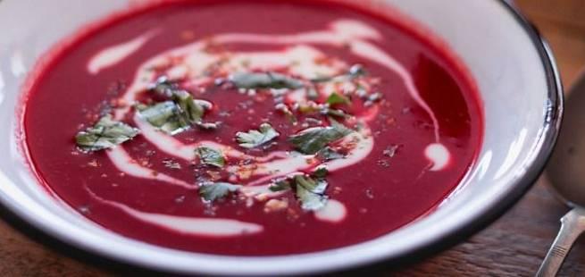 Enkel rødbetesuppe