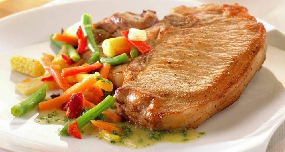 Koteletter med wokgrønnsaker