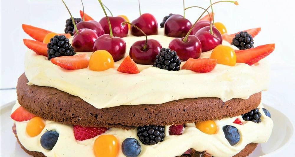 Sjokoladekake med lakris og pistasjnøttpraline