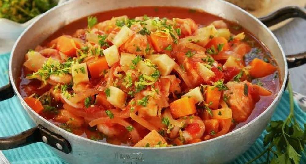 Fiskegryte med tomater