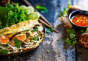 Bánh xèo - Vietnamesiske pannekaker