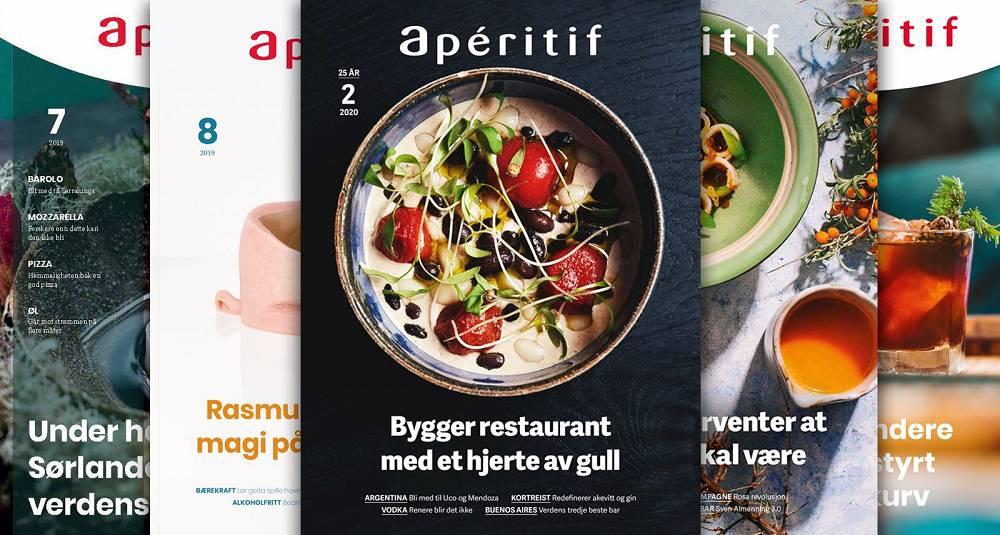 Her finner du alle de digitale utgavene av magasinet Aperitif