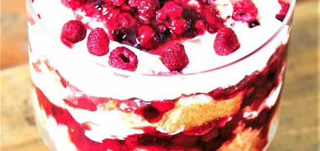 Bringebær trifle