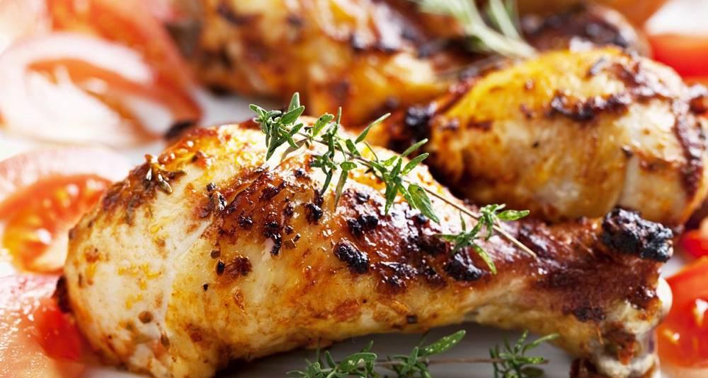 Grillede kyllinglår med rødvinsmarinade og yoghurtmarinade